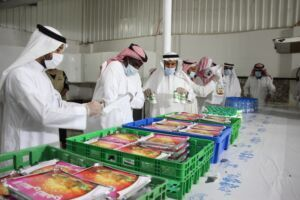 """"""" صون """" تختتم توزيع أربعة آلاف وجبة بمبلغ ( ٤٠٠٠٠ ) ريال بدعم من الصندوق المجتمعي"""